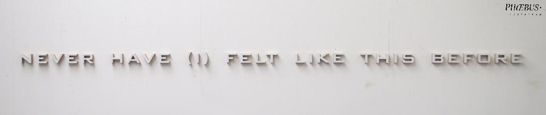 Simon Benson, Never Have (I) Felt Like This Before, tekstwerk in gesso/mdf PHŒBUS•Rotterdam
