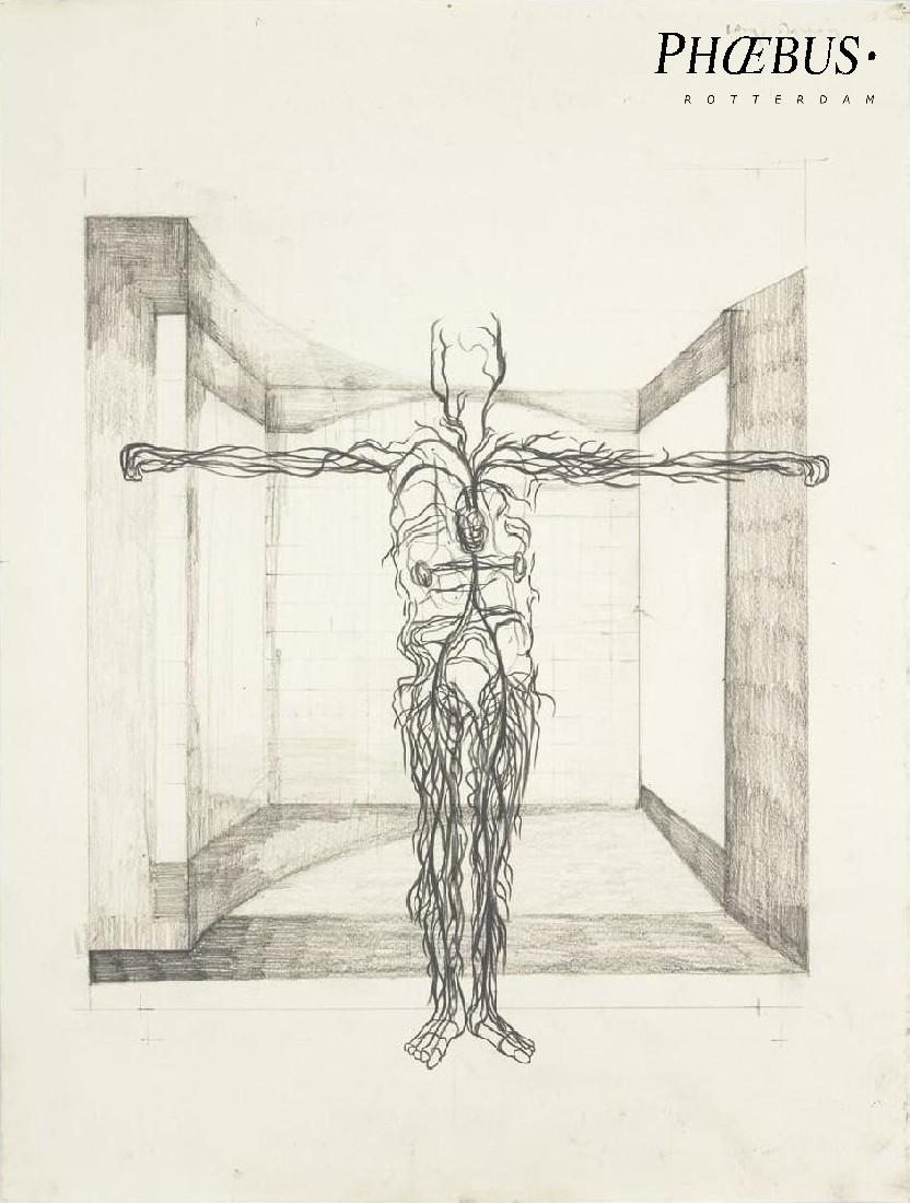 Simon Benson, 'Blood Tree Drawings _ Vitruvian Man', 2016 / 2017, pencil / paper, 42 x 32 cm. PHŒBUS•Rotterdam
