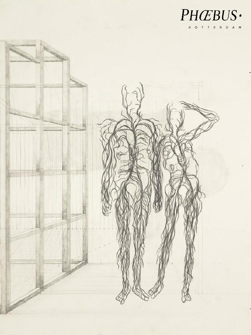 Simon Benson, 'Blood Tree Drawings _ (Outside) The Garden', 2016 / 2017, pencil / paper, 42 x 32 cm. PHŒBUS•Rotterdam