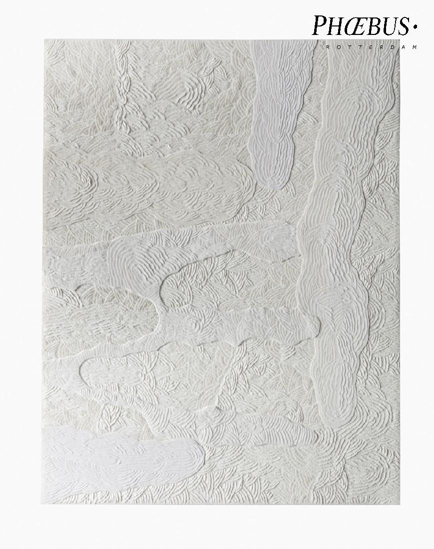 Célio Braga, 12. Untitled (White Blur), 2017. Cuts and carvings on paper. 29.5 x 21 cm PHŒBUS•Rotterdam