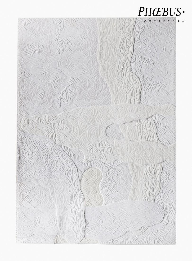 Célio Braga, 02. Untitled (White Blur), 2017. Cuts and carvings on paper. 29.5 x 21 cm PHŒBUS•Rotterdam