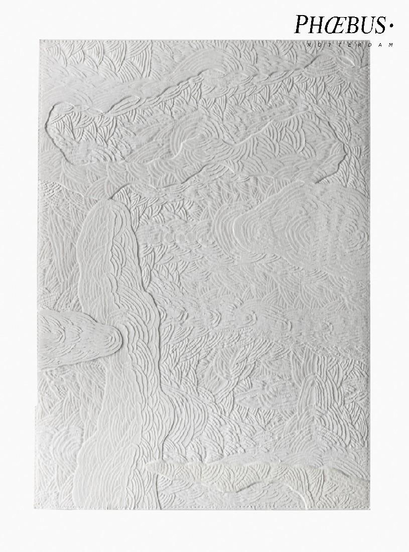 Célio Braga, 05. Untitled (White Blur), 2017. Cuts and carvings on paper. 29.5 x 21 cm PHŒBUS•Rotterdam