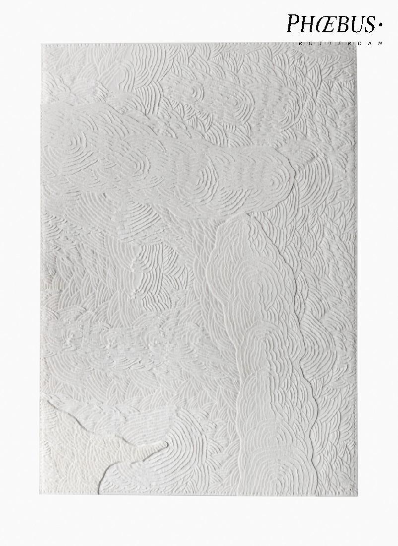 Célio Braga, 08. Untitled (White Blur), 2017. Cuts and carvings on paper. 29.5 x 21 cm PHŒBUS•Rotterdam