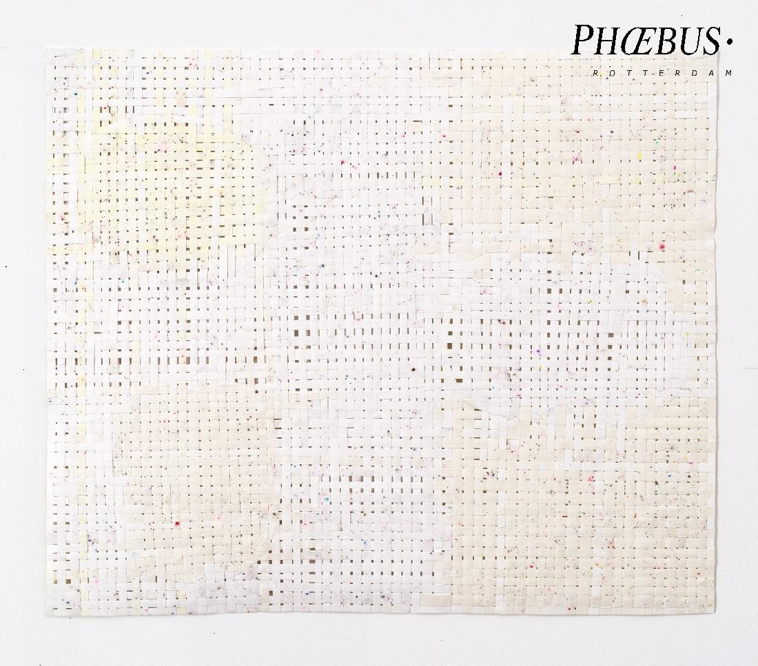 Célio Braga, Untitled (Woven), 2018. Color pencil and embossing on woven pape. 54 x 65 cm. (+ lijst) PHŒBUS•Rotterdam