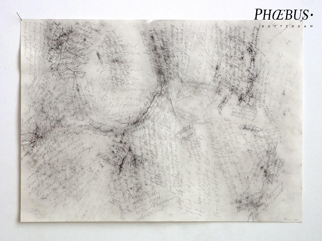 Toine Horvers, rubbings [on rock surface]/drawing with pencil on paper, 2004, 42